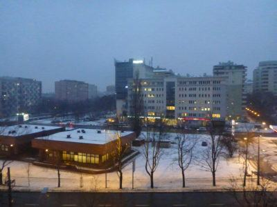 View from my room at the Ibis Hotel, Warszawa Centrum, Poland