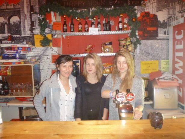 Good staff at the Oki Doki Hostel in Warsaw, Poland