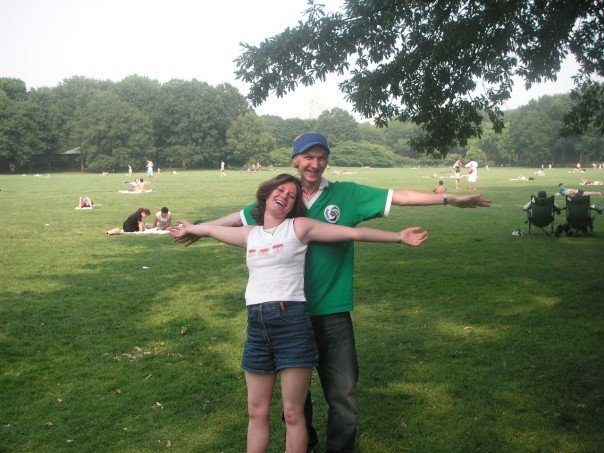 Nina and I touring Central Park, NYC in 2007