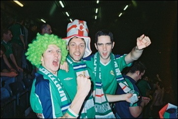 The Night Northern Ireland beat England 1-0 in Belfast. Please note: This photo was taken at half time!