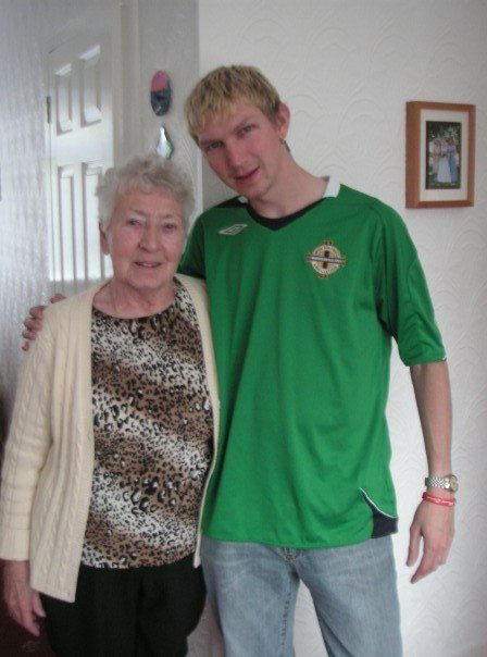Granny Blair and I in 2008 - last photo and last time I saw her.