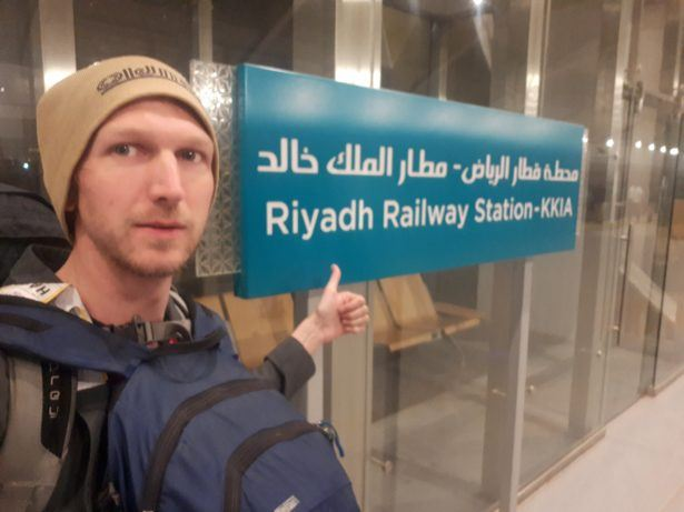 Arrival in Riyadh Train Station, Saudi Arabia