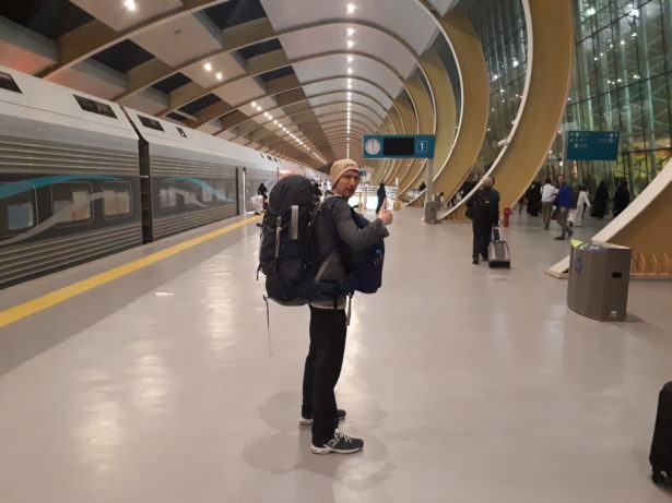 Arrival in Riyadh Train Station, Saudi Arabia