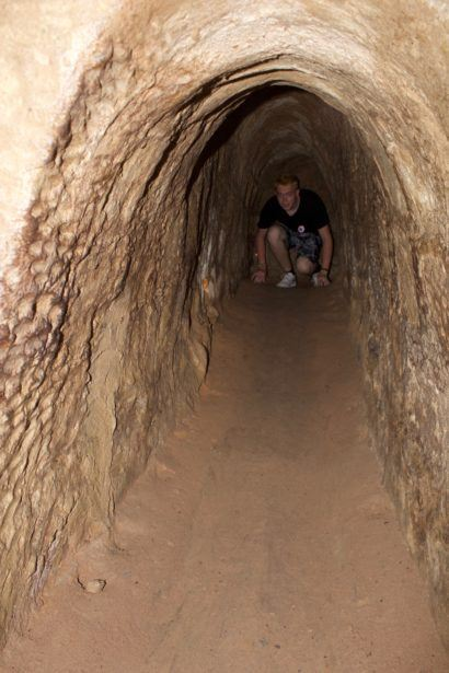 World Travellers: Jamie Campbell from Gaijin Crew exploring Cu Chi Tunnels in Ho Chi Minh