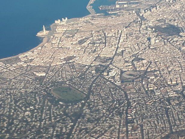 Arrival into Lisbon, Portugal