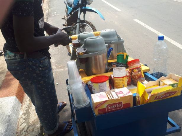 Street vendors in Independence Square, Lome, Togo