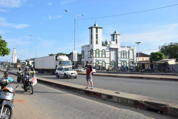 By the Grand Mosque in Benin