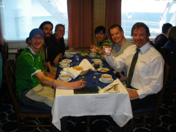 The table where I met Panny Yu in Antarctica