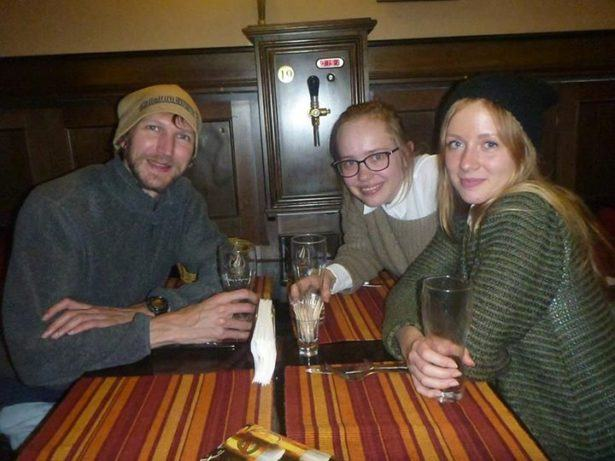 With Karolina and Olga in Bulgaria in 2014