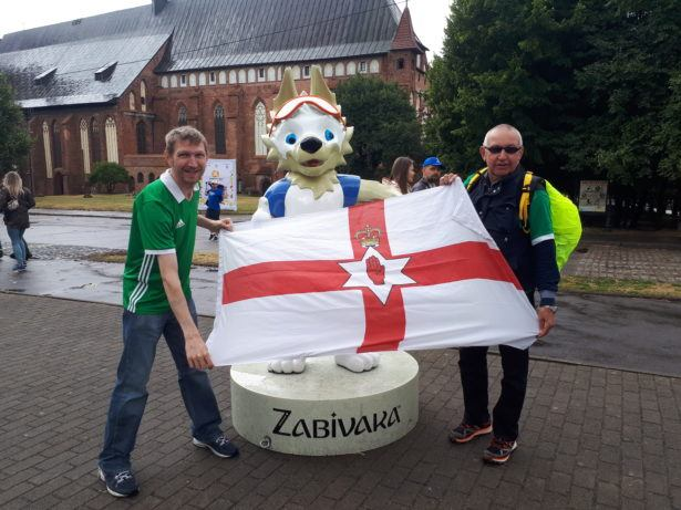 In Kaliningrad, Russia with my Dad for the 2018 World Cup