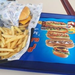 Friday's Featured Food: Cheeseburger, Chips, Cola and Ice Cream in Kudu Fast Food Joint in Shaqra