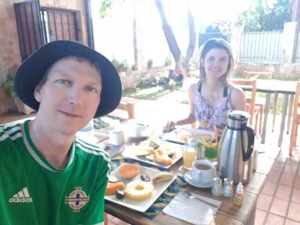 Breakfast at Urban Lodge, Bujumbura, Burundi