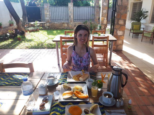 Breakfast at Urban Lodge, Bujumbura, Burundi