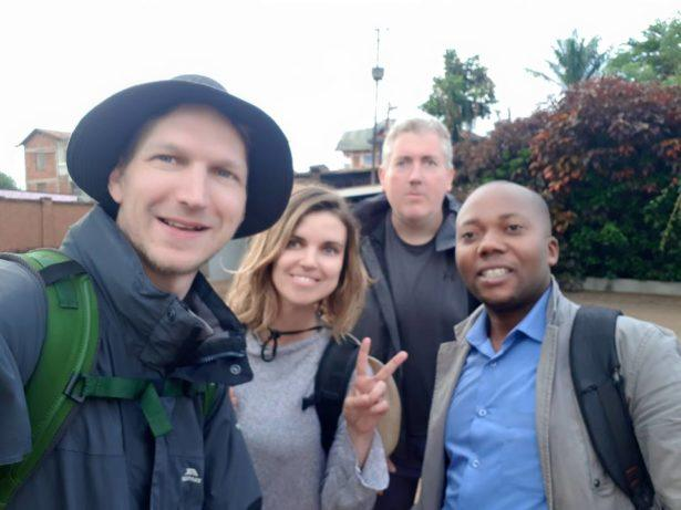 Morning of the gorilla hike with Kelvin, our guide in the Democratic Republic of Congo