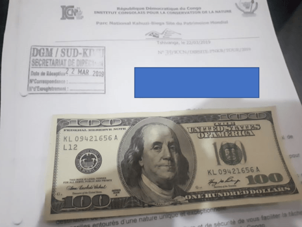 Paying with a $100 US note that was not accepted due to the date.