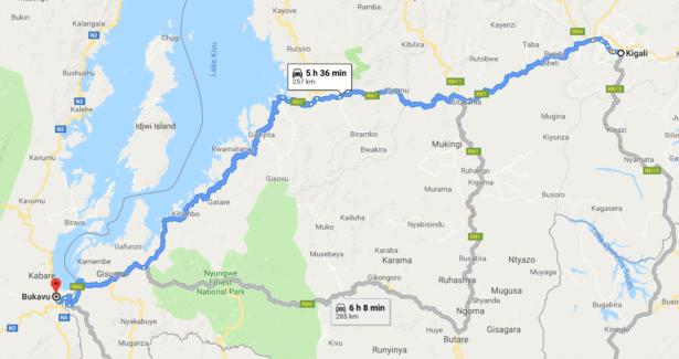 Kigali to Bukavu Rwanda Congo border