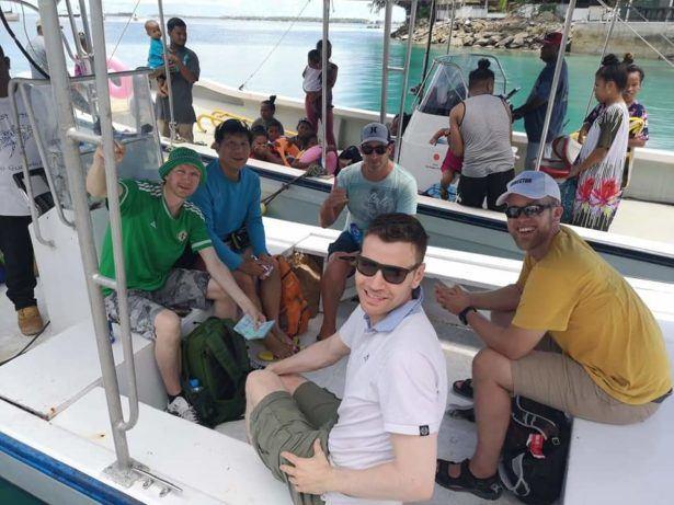 On board the boat from Uliga, Majuro to Eneko Island