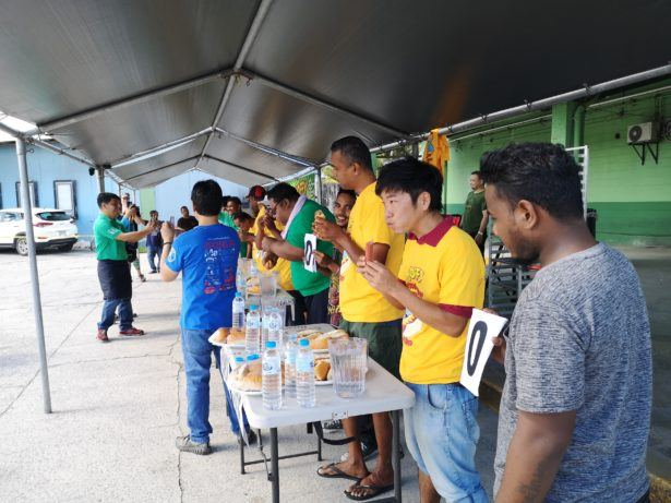 Attending the Annual Hoffy Hot Dog Eating Contest in Majuro, Marshall Islandsfrem