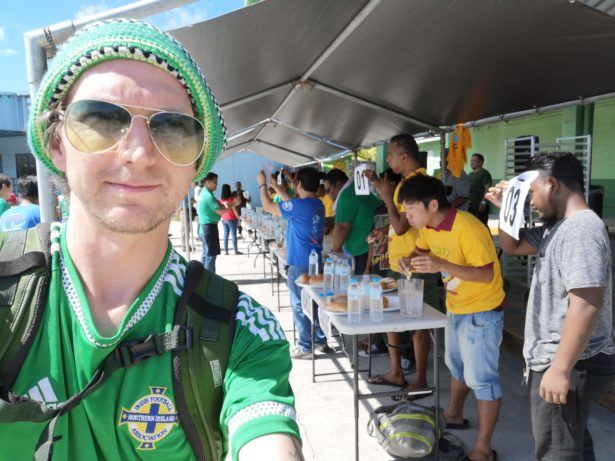 Attending the Annual Hoffy Hot Dog Eating Contest in Majuro, Marshall Islands
