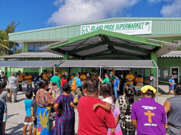 Delap main store, part of Island Pride Supermarket in the DUD (Delap, Uliga, Djarrit) city part of the Majuro Atoll on the Marshall Islands.