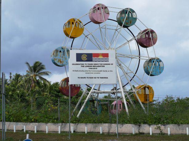 Bairiki's dis-used Ferris Wheel, Kiribati