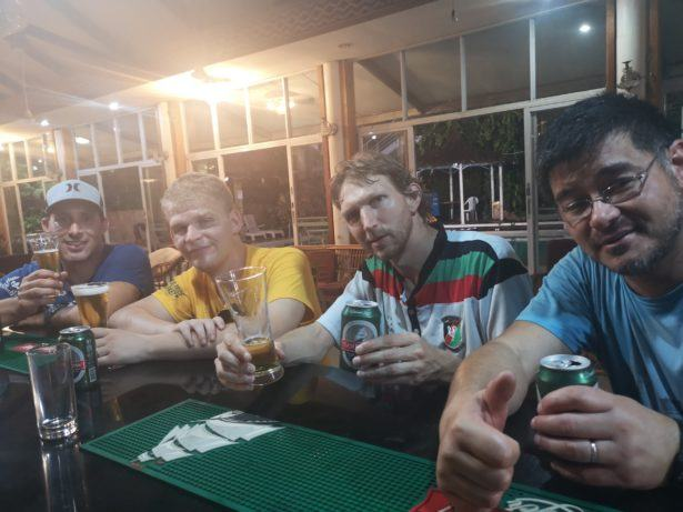 Late evening drinks at Honiara Hotel, The Solomon Islands