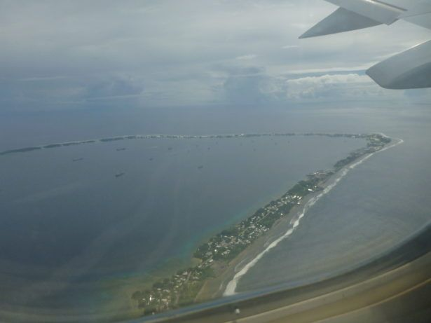 Marshall Islands capital city from the air - DUD