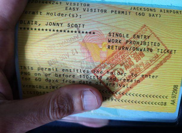 Papua New Guinea - easy visa on arrival