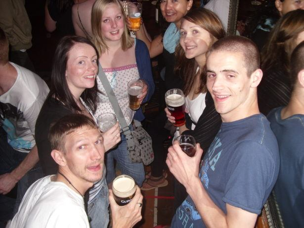 A night out in O'Malley's in Sydney, Australia