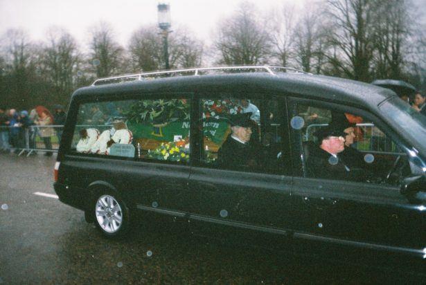 Attending George Best's Funeral at Stormont, Belfast, Northern Ireland