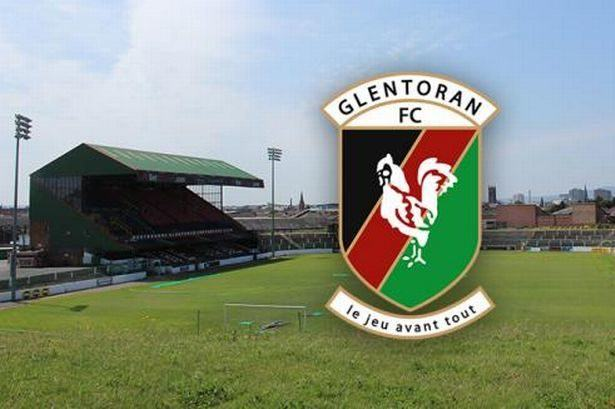 The Oval grounds - Glentoran FC's famous stadium in Belfast city, Northern Ireland
