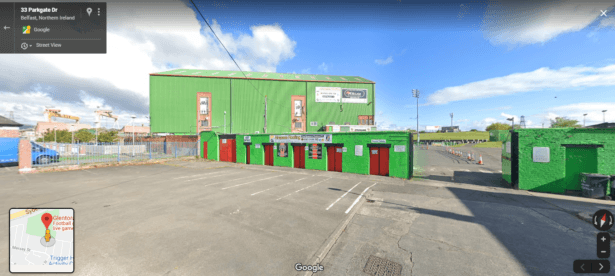 Glentoran FC on Google Earth