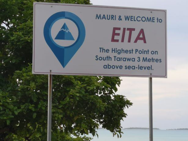 Backpacking in Kiribati: Visiting The Highest Peak of Tarawa Atoll - 3 Metres!
