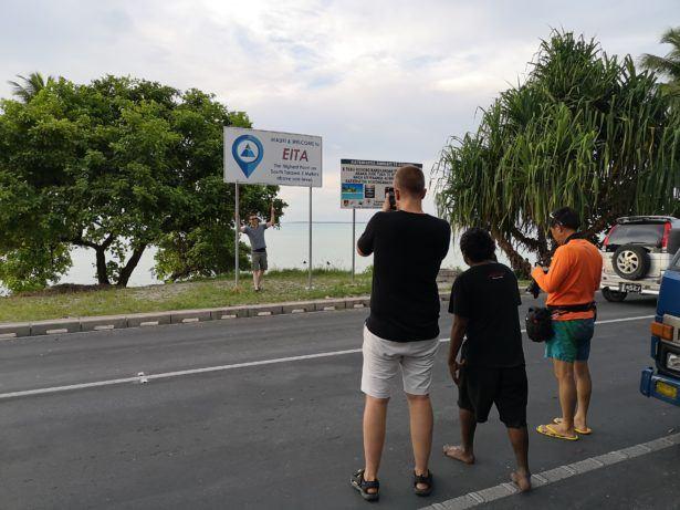 Backpacking in Kiribati: Visiting Eita, The Highest Peak of Tarawa Atoll - 3 Metres!