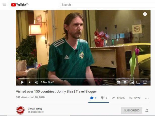 Jonny Blair Travel Blogger Interview
