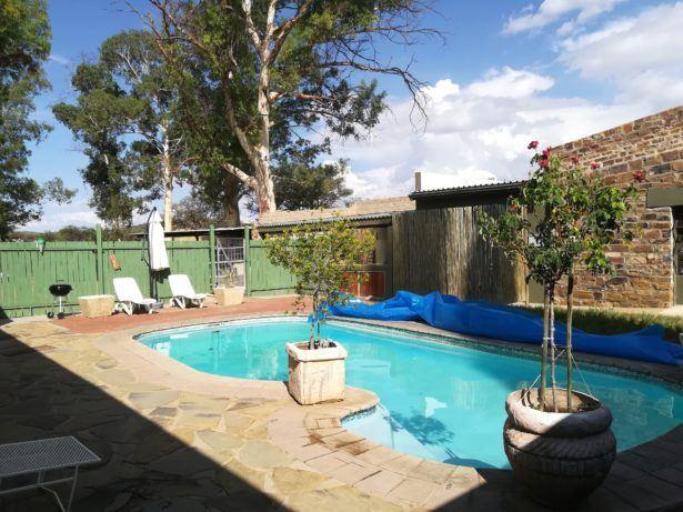 The swimming pool at Vineyard Country Lodge, Namibia