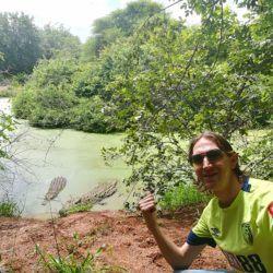 Backpacking in Botswana: Touring Chobe Crocodile Farm Near Kasane