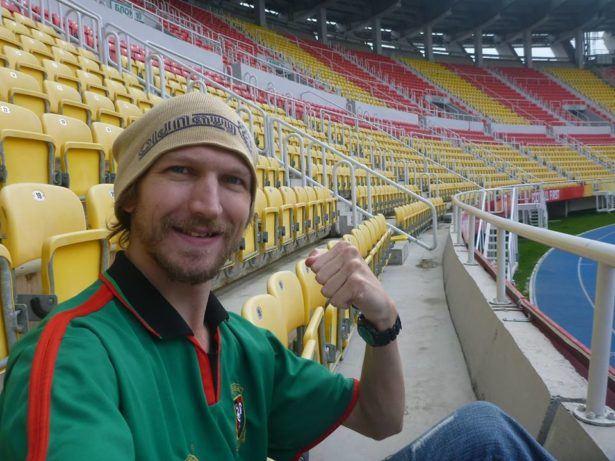 The National Stadium in Skopje, Northern Macedonia