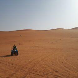 Quad Biking in Saudia Arabia on The Sand Dunes Near Shaqra