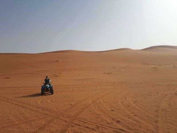 Quad Biking in Saudia Arabia on The Sand Dunes Near Shaqra