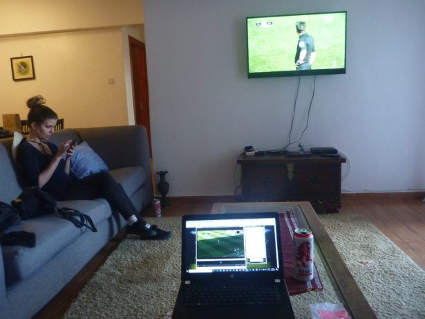 Our apartment in Nairobi where I watched Bournemouth smash Brighton 5-0 away in the South Coast derby