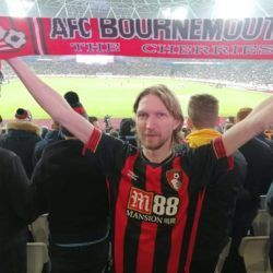 Up the Cherries! Watching Bournemouth at West Ham, London