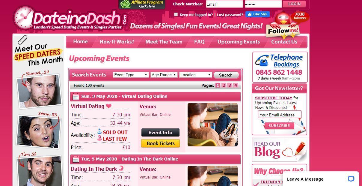 online vs speed dating