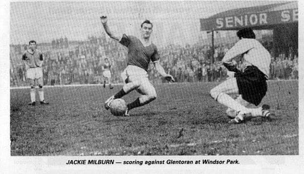 Jackie Milburn (Linfield and England 1950)