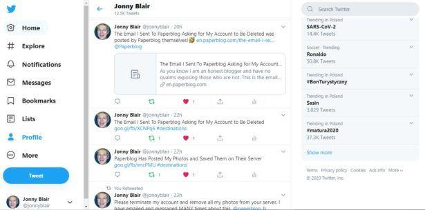 Jonny Blair on Twitter Paperblog please delete