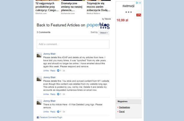 Facebook comments below MY articles on your site