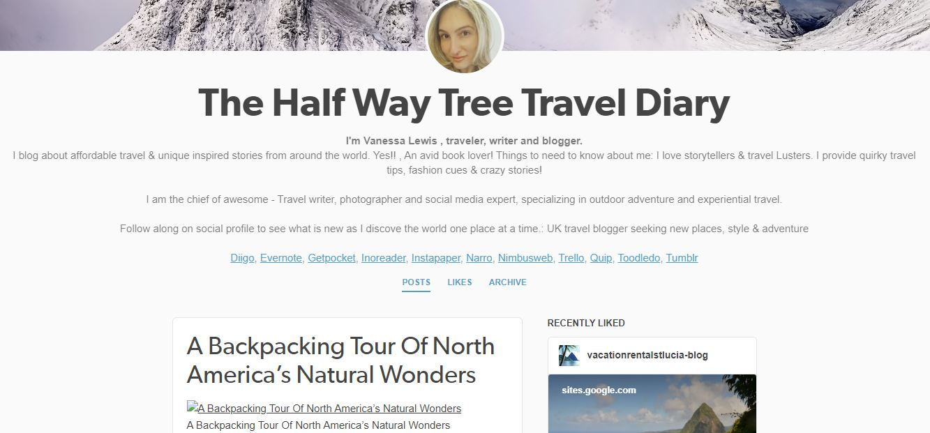 Vanessa Lewis Half Way Travel Tree is An Asshole