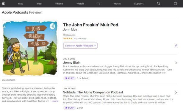 Jonny Blair on the John Freakin Muir Podcast 2020