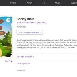 Jonny Blair on the John Freakin Muir Podcast