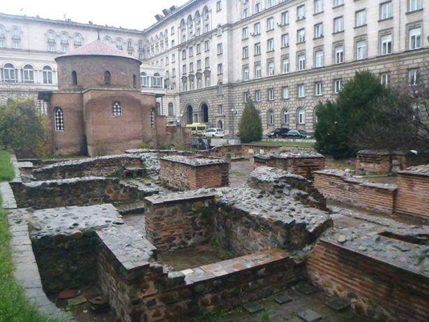 Ruins in Sofia, Bulgaria